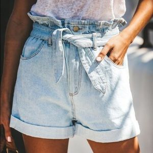Vici Shorts - Paper Bag High Waist Shorts